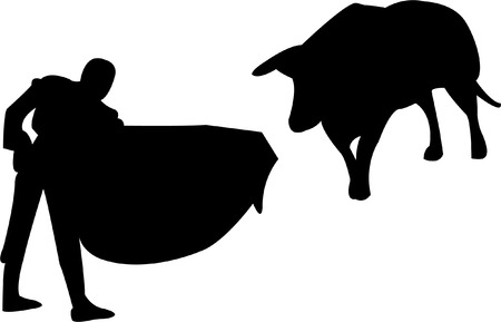 bullfights: toreador silhouette