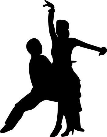 bailar salsa: silueta de danza