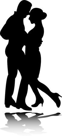 the passion: dance silhouette