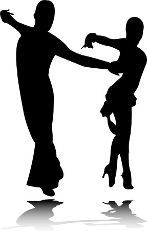 beauty contest: dance silhouette