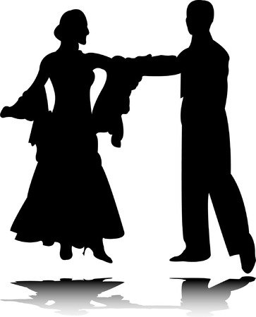 theatrical dance: dance silhouette