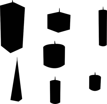 candles silhouette  Vector
