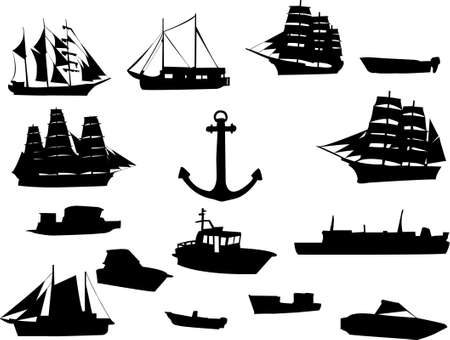 loch: collection of ships  Illustration