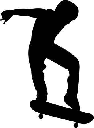 youth culture: skateboarding silhouette  Illustration