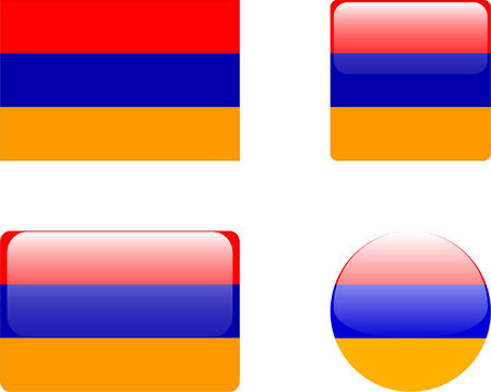 armenia flag &amp, buttons collection  Vector