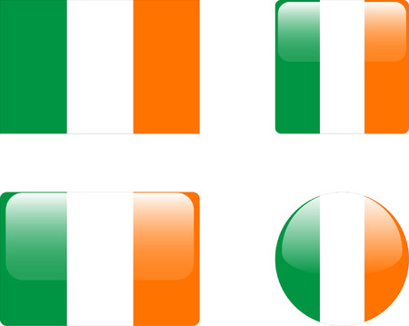 ireland flag: ireland flag &amp, buttons collection Illustration