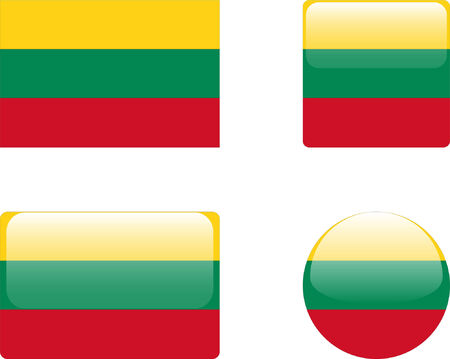 lithuania flag: lithuania flag &amp, buttons collection  Illustration