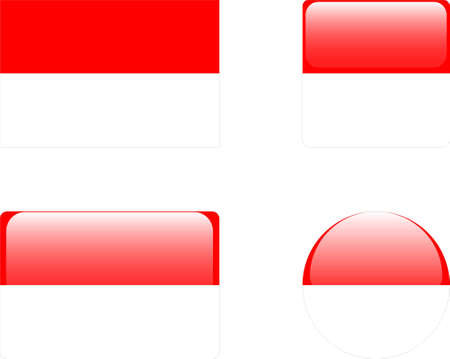 monaco flag &amp, buttons collection  Vector