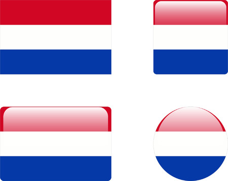 netherlands flag &amp, buttons collection Stock Vector - 8851957