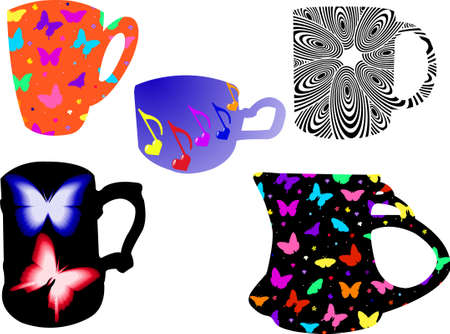 illustrations of cup - vector Vector