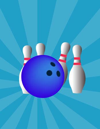 bowling - vector Stock Vector - 8971656