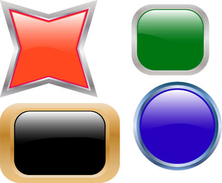 collection of cool buttons - vector Vector