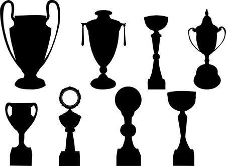 trophy collection - vector Vector