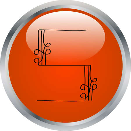 letter in button - vector Vector