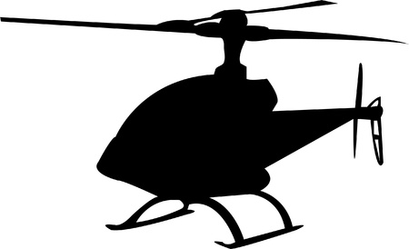helicopter silhouette - vector Vector