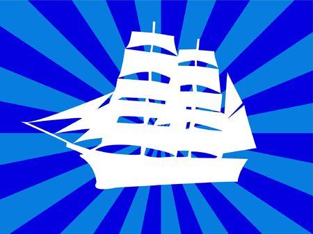 illustration of ship silhouette Vector