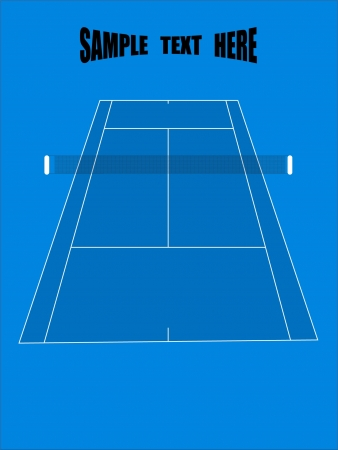 synthetic court: tennis ground - vector