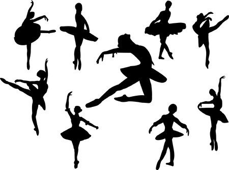 collection of ballerinas - vector Vector
