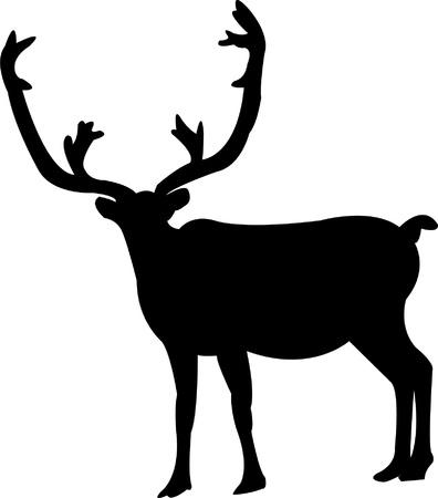 elk horn: silueta de alce - vector