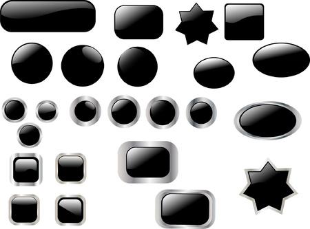 black button collection - vector Vector
