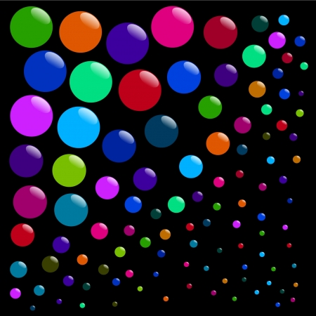 Bubbles abstract background Illustration