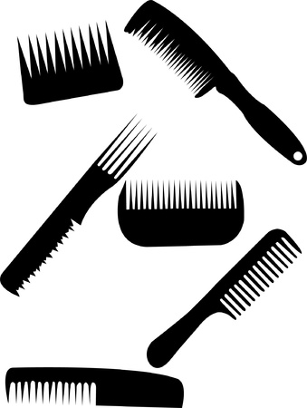 comb collection - vector Illustration