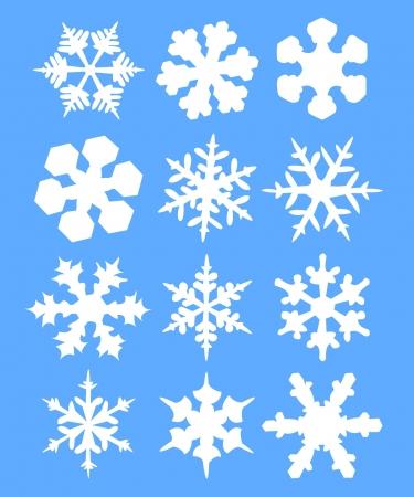 snow flakes: Sneeuwvlokken illustratie