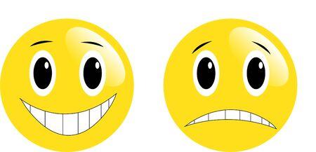 Emotive smiles - vector Vector