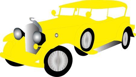 restored: Illustration of old car 2 - vector
