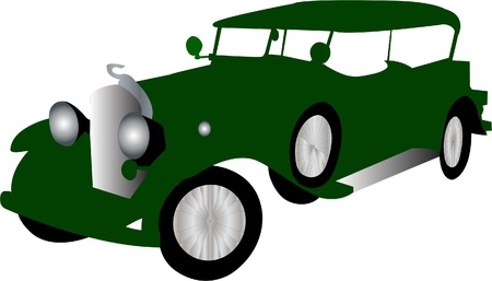 restored: Illustration of old car - vector
