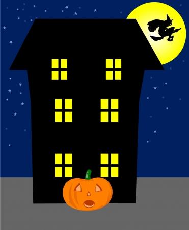 Halloween hounted house - vector Stock Vector - 10952043