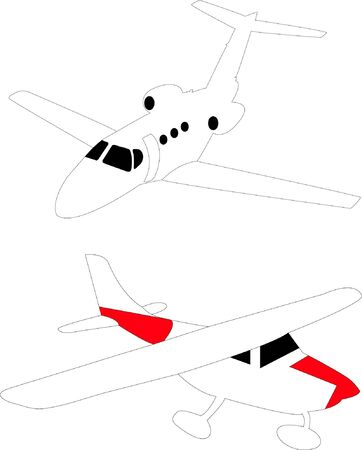 Small light airplanes - vector Stock Vector - 11528774