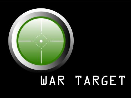 eye hole: War target illustration