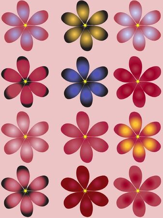 Illustration of flowers Stock Vector - 11670013