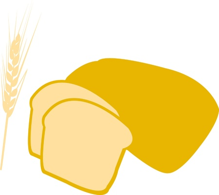 Illustration of bread and wheat Vector
