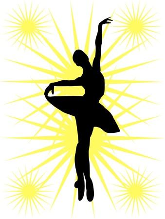 Ballerinas silhouette Vector