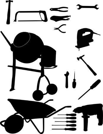 stepladder: Tools collection Illustration