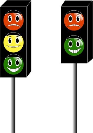 señal transito: ilustración de dibujos animados semáforo Vectores