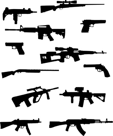 modern weapon collection - vector Vector