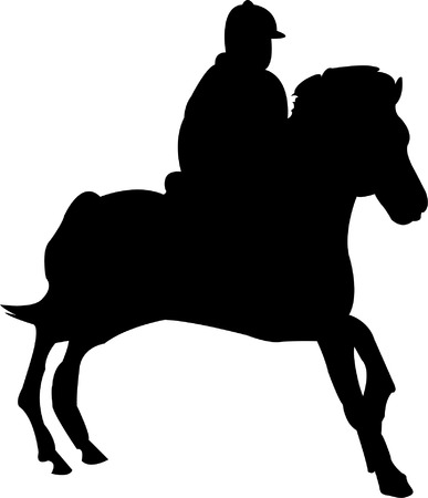 stride: horse race - vector