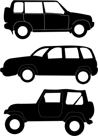 rev counter: collection of cars - vector Illustration