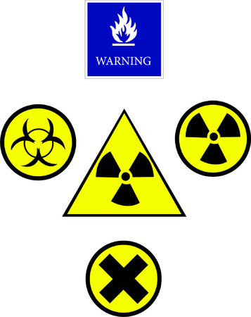 warning buttons - vector