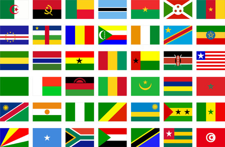 african flags - vector Vector