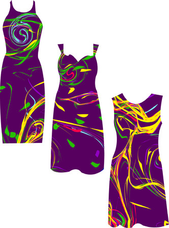 sundress: beautiful dress - vector