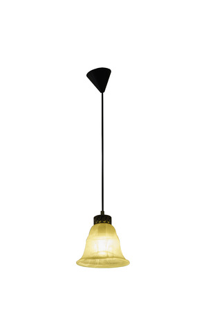 cutglass: Hanging lamp isolated on white.