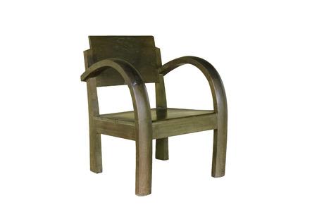 silla de madera: silla de madera aislada sobre fondo blanco