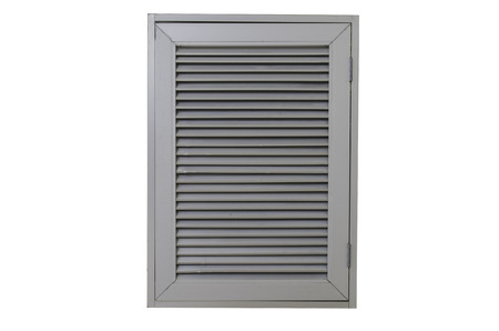 vents: The doors are made of aluminum on a white background. Stock Photo
