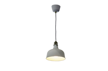 Hanging lamp isolated on white.