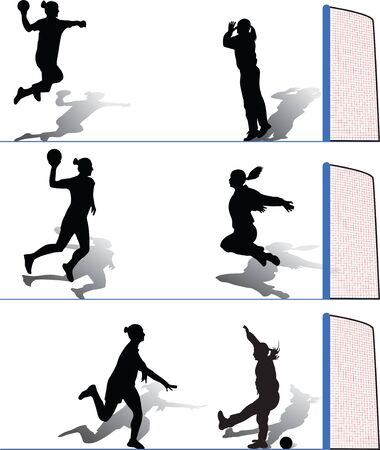 atack: handball woman Illustration