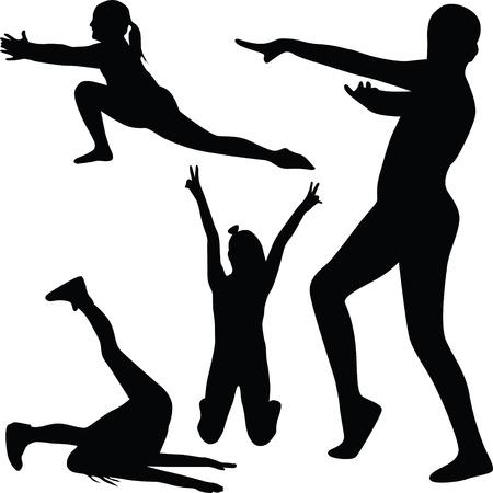 gymnastics silhouette: gymnastics silhouette vector